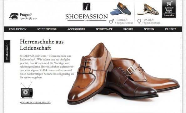 (Screenshot: Shoepassion.com)
