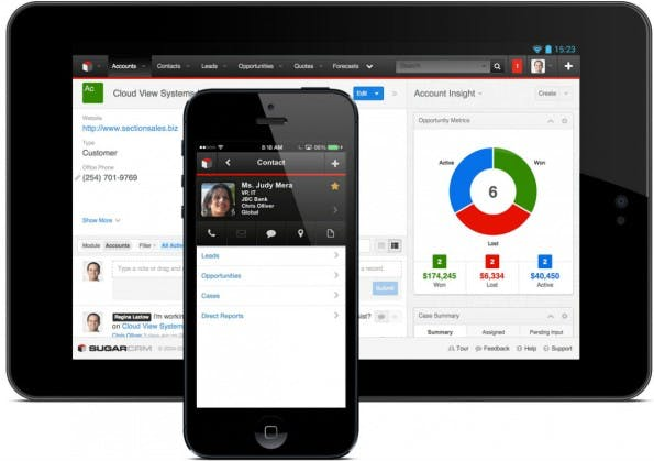 CRM-Systeme: SugarCRM. (Screenshot: t3n)