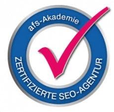 SEO-Agenturzertifikat: Dieses Qualitätssiegel soll für Vertrauen sorgen. (Grafik: afs-Akademie)