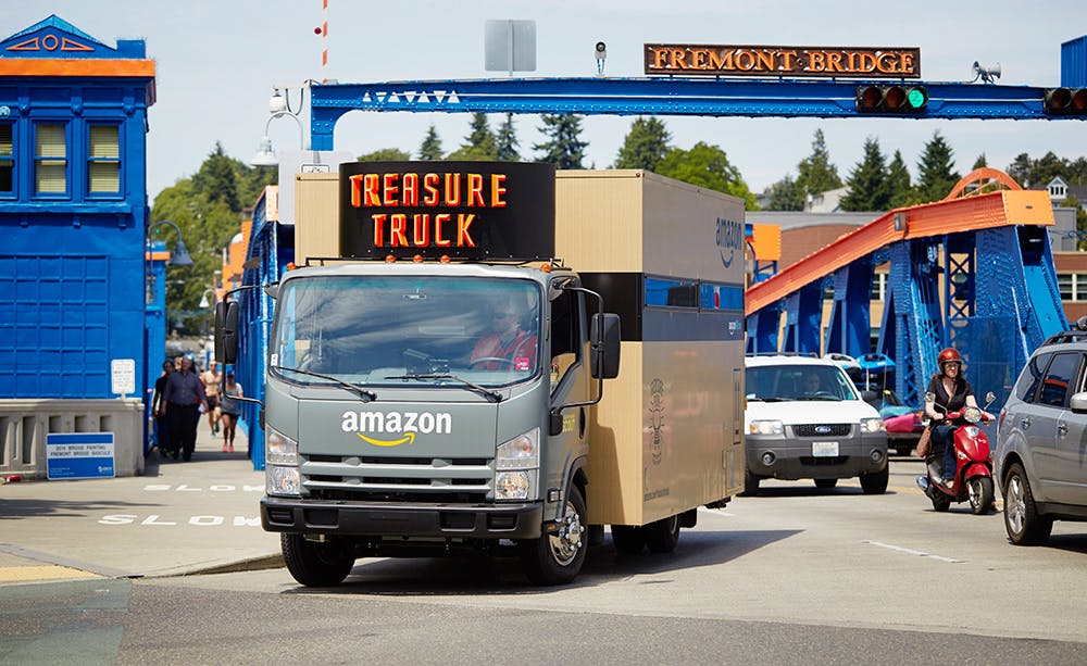 Der Amazon-Treasure-Truck in Seattle. (Foto: Amazon)