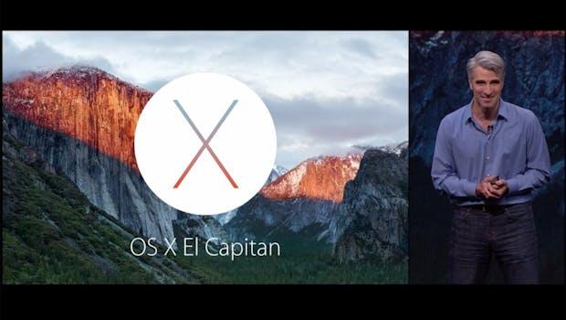 Craig Frederighi stellt in San Francisco das neue OS X El Capitan vor. (Screenshot: Apple.com)