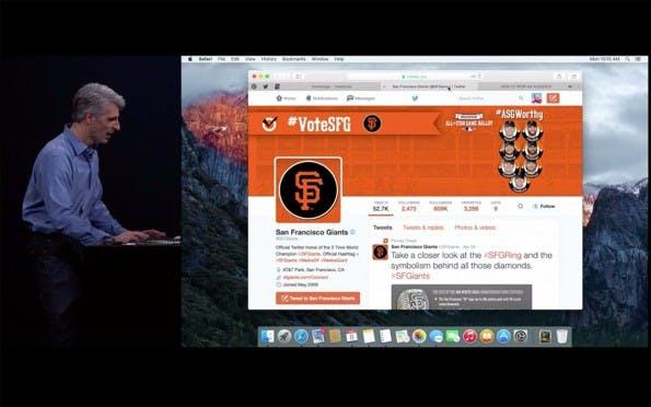 Safari kann in El Capitan zum Beispiel anzeigen, welcher Tab gerade Musik abspielt. (Screenshot: Apple.com)