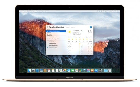 Spotlight versteht in El Capitan mehr semantische Befehle. Außerdem kann das Fenster verschoben und in der Größe geändert werden. (Bild: Apple.com)