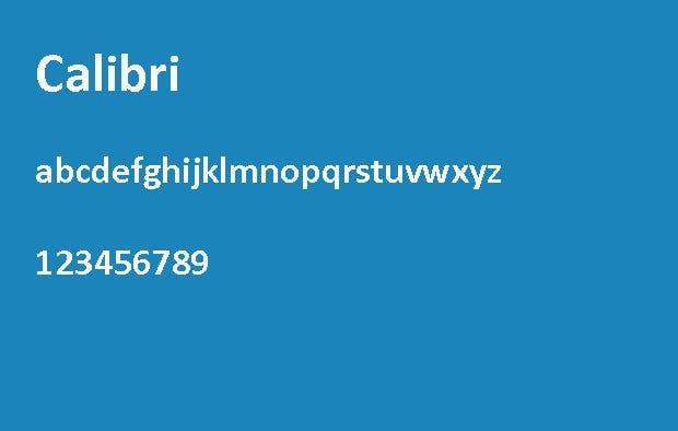 Die 6 besten Schriftarten für eine Bewerbung – Calibri.