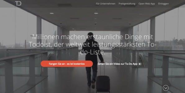 """ToDoIst hilft persönliche Aufgaben zu organisieren. Das Tool arbeitet entlang dem """"Getting Things Done""""-Prinzip! (Screenshot: Todoist.com"""