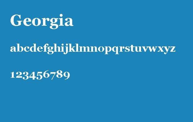 Die 6 besten Schriftarten für eine Bewerbung – Georgia.