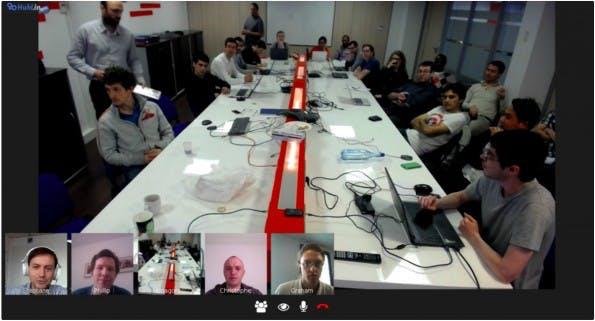 Mit Hubl.in können Videokonferenzen einfach im Browser und gratis anberaumt werden. (Screenshot: Hubl.in)