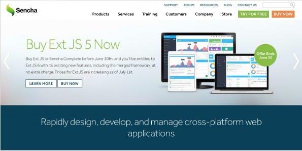 Hybride Entwicklung für Enterprises: Sencha. ( Screenshot Sencha)