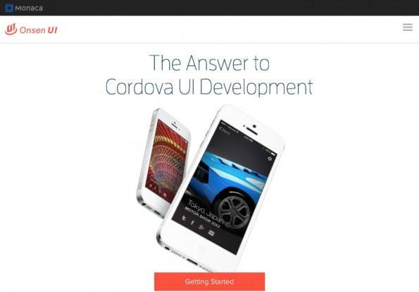 Hybride Entwicklung auch für Anfänger: Onsen UI. (Screenshot: Monaca)