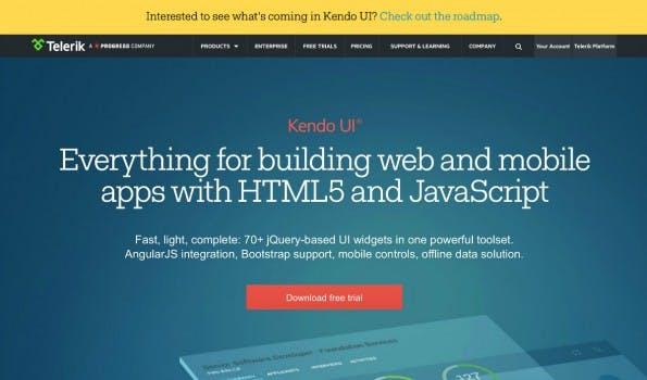 Kendo UI: Hybride Entwicklung mit HTML5 und JavaScript. (Screenshot: Telerik)