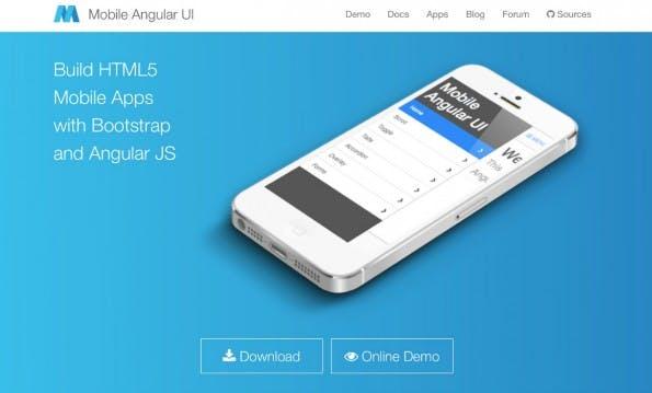 Bootstrap und AngularJS: Mobile Angular UI. (Screenshot: Mobile Angular)