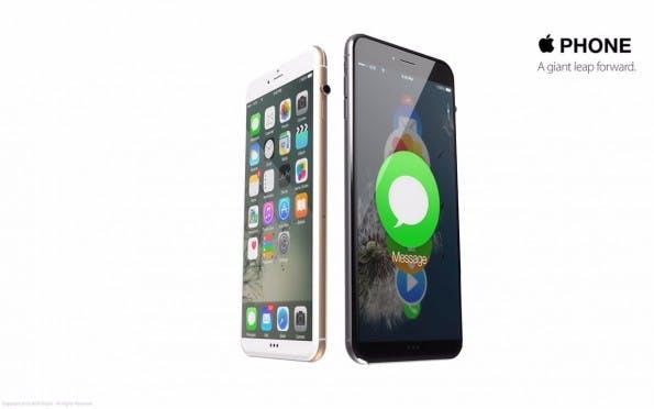 iPhone 7 ohne Home-Button: Ein Designkonzept verbindet das Smartphone mit Elementen der Apple Watch. (Grafik: Antonio De Rosa / Behance)