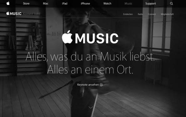 Tim Cook: Apple Music soll schon jetzt über 6,5 Millionen zahlende Kunden verfügen. (Screenshot: Apple.com)