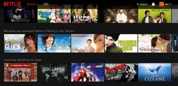 Netflix will US-Angebote vor VPN-Nutzern verstecken. (Screenshot: t3n)