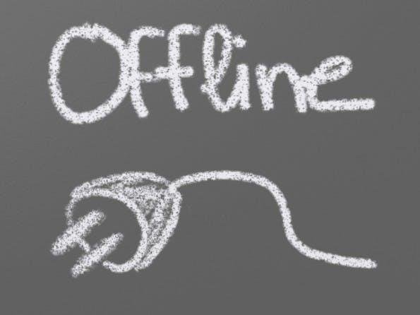 Kein Internet: Ihr könnt auch offline produktiv sein. (Grafik: Xavier Vergés / Flickr Lizenz: CC BY 2.0