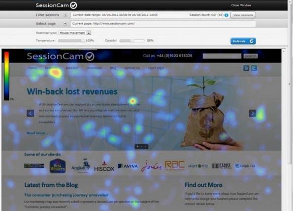 (Screenshot: sessioncam.com)