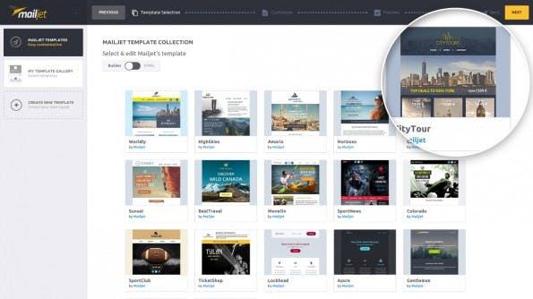 Startup-News: Das Startup Mailjet aus Paris hat ein neues Tool für responsive E-Mail-Kampagnen vorgestellt. (Screenshot: Mailjet)