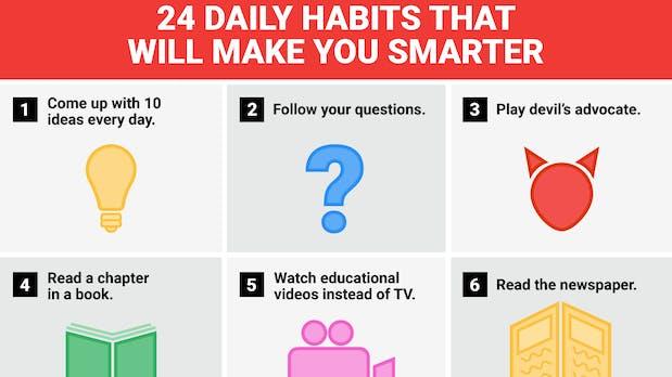 24 tägliche Routinen, die dich schlauer machen [Infografik]