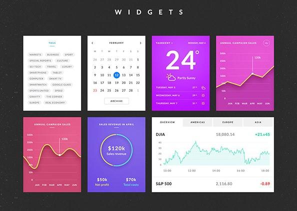 Das UI-Kit Azure liefert auch ein paar fertige Layouts. (Screenshot: http://graphicburger.com)