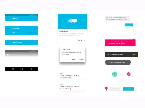 UI-Kit im Material Design für Sketch-Nutzer. (Screenshot: sketchappsources.com)