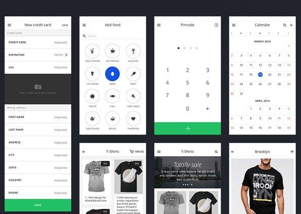 Ein sehr umfangreiches UI-Kit für iOS. (Screenshot: invisionapp.com)
