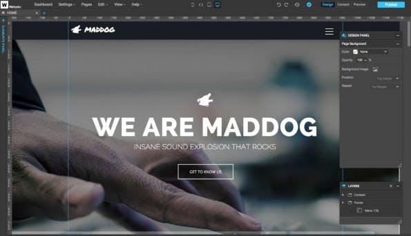 Mit Webydo gestaltet ihr responsive Webseiten, ohne euch um den zugrundeliegenden HTML-Code kümmern zu müssen. (Screenshot: Webydo)