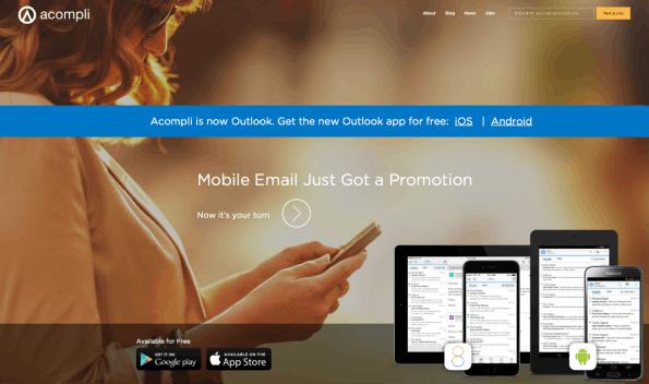Nach der Übernahme von Acompli durch Microsoft ist abgesehen von der Technologie nichts mehr von der E-Mail-App übrig geblieben. Ereilt dieses Schicksal auch Wunderlist? (Screenshot: t3n)