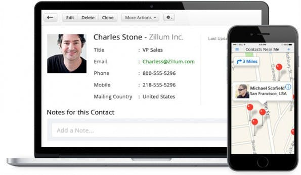 CRM-Systeme: Zoho. (Screenshot: t3n)