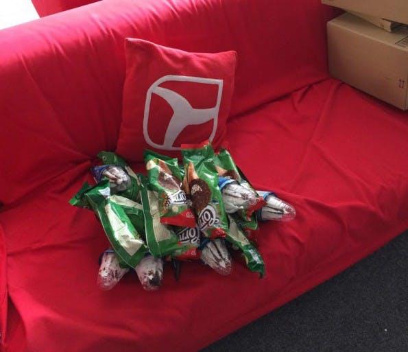 Bitte, 20 Cornetto-Eis für das Team. Bestellt mit GoButler. (Foto: t3n)