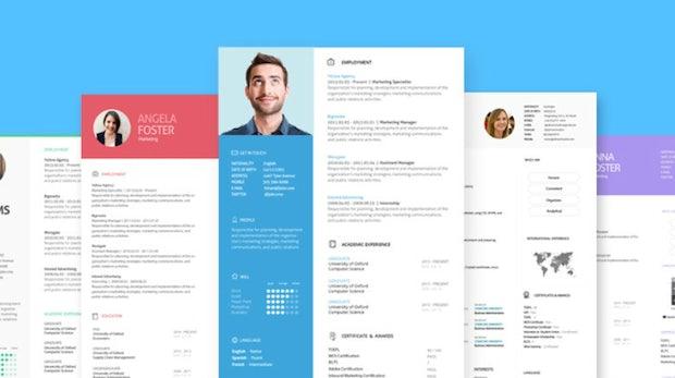 Cool gelayouteter Lebenslauf fix als PDF gefällig? JobCV macht es möglich