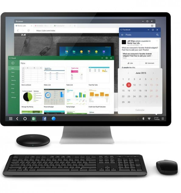 Remix Mini mit Remix OS soll der erste echte Android-PC sein. (Foto: Jide)