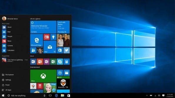 Windows 10 bringt das Startmenü zurück. (Bild: Microsoft)