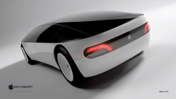 Apple Car: Könnte so ein Elektroauto aus Cupertino aussehen? (Grafik: menithings / Freelancer.com)