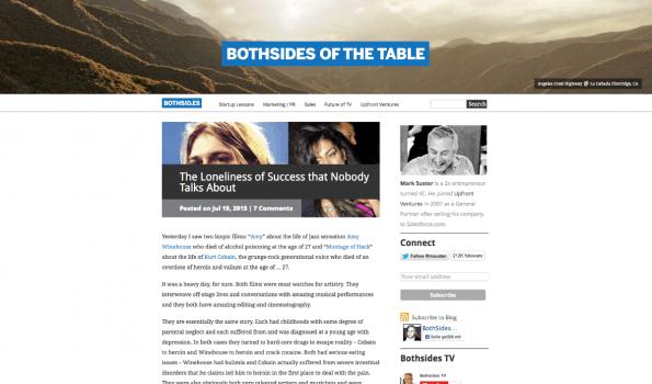 Auf seinem Blog bietet der bekannte Startup-Investor Mark Suster viele Tipps und Analysen. Mit dem Newsletter verpasst man nichts. (Screenshot: t3n)