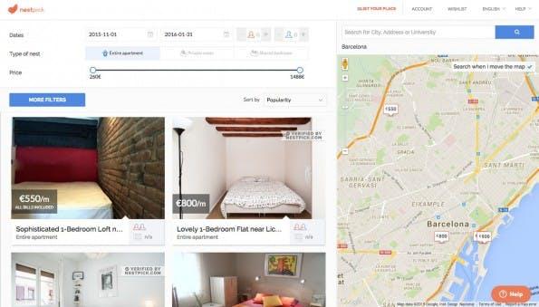 Nestpick schickt eigene Fotografen zu vielen der gelisteten Wohnungen. (Screenshot: Nestpick)