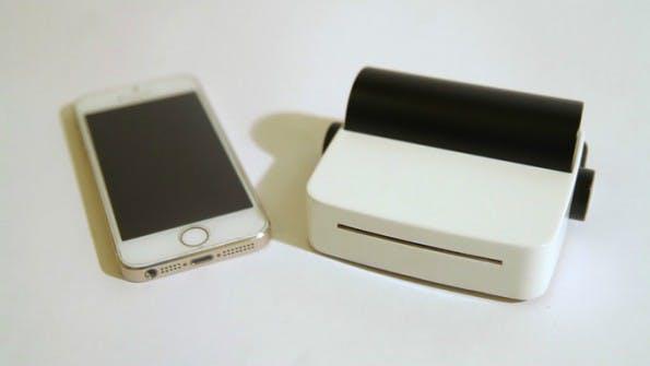 droPrinter: Dieser Mini-Drucker will zum Smartphone-Begleiter werden. (Foto: droPrinter/Kickstarter)