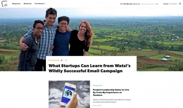 Exklusive Interviews und Hintergrundberichte – das liefert der aufwändig gestaltete Newsletter von First Round Capital. (Screenshot: t3n)