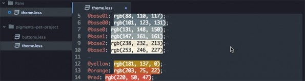 GitHub Atom Package Pigments