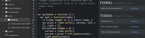 GitHub Atom Package TODO-show