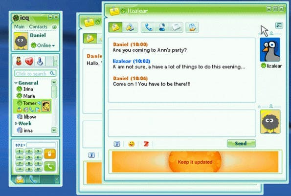 ICQ war einer der ersten Instant-Messenger. (Screenshot: icq.software.informer.com)