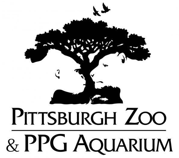 Das Logo des Pittsburgh Zoo verbindet die Silhouetten diverser Tiere clever zu einem großen Natur-Porträt. (Logo: Pittsburgh Zoo)