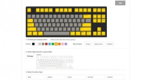 Mechanische Keyboards: Bei WASD könnt ihr eure Tastatur online zusammenstellen. (Screenshot: WASD Keyboards)