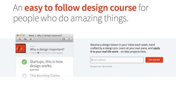 Nützliche Newsletter  für Designer. (Screenshot: t3n)