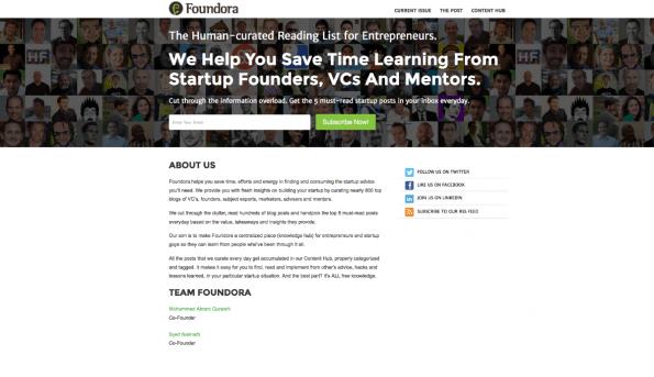 Jede Menge Tipps, Tricks und Ressourcen für die Startup-Gründung liefert Foundora. (Screenshot: t3n)