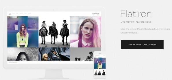 Dienste für dein Online-Portfolio gibt es viele. Für Plattformen wie Squarespace stehen diverse Templates zur Verfügung. (Foto: Squarespace)