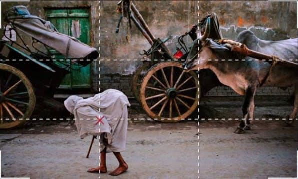 Perfekte Fotos: 1. Die Drittel-Regel. (Screenshot: Cooperative of Photography. Original: Steven McCurry)