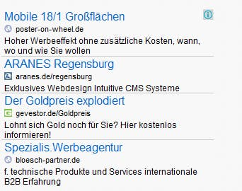 AdSense ist eine mögliche Art der Monetarisierung für euer Projekt. (Screenshot: google.de)