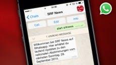 Per Messaging zum Wahlergebnis: Aktion des SRF im Herbst 2014. (Grafik: SRF)