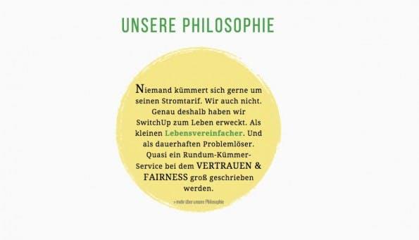 Das Unternehmen Switchup bezeichnen sich selbst als Lebensvereinfacher. (Screenshot: switchup.de)