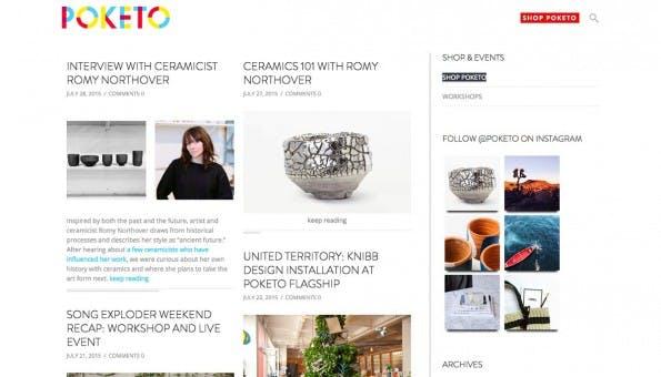 Gelungene Unternehmensblogs: Poketo. (Screenshot: Poketo)